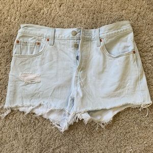 High waisted Levi's 501 shorts